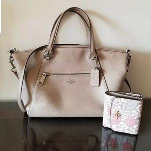 Coach Handbag with Floral Wallet